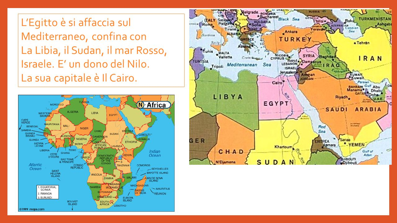 L'Egitto è si affaccia sul Mediterraneo, confina con
