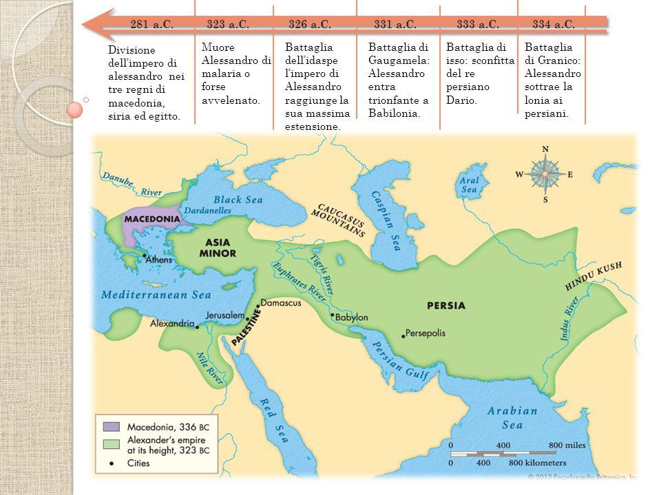 281 a.C. 323 a.C. 326 a.C. 331 a.C. 333 a.C. 334 a.C.