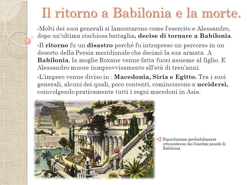 Il ritorno a Babilonia e la morte.
