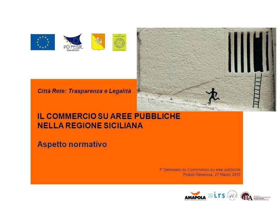IL COMMERCIO SU AREE PUBBLICHE NELLA REGIONE SICILIANA