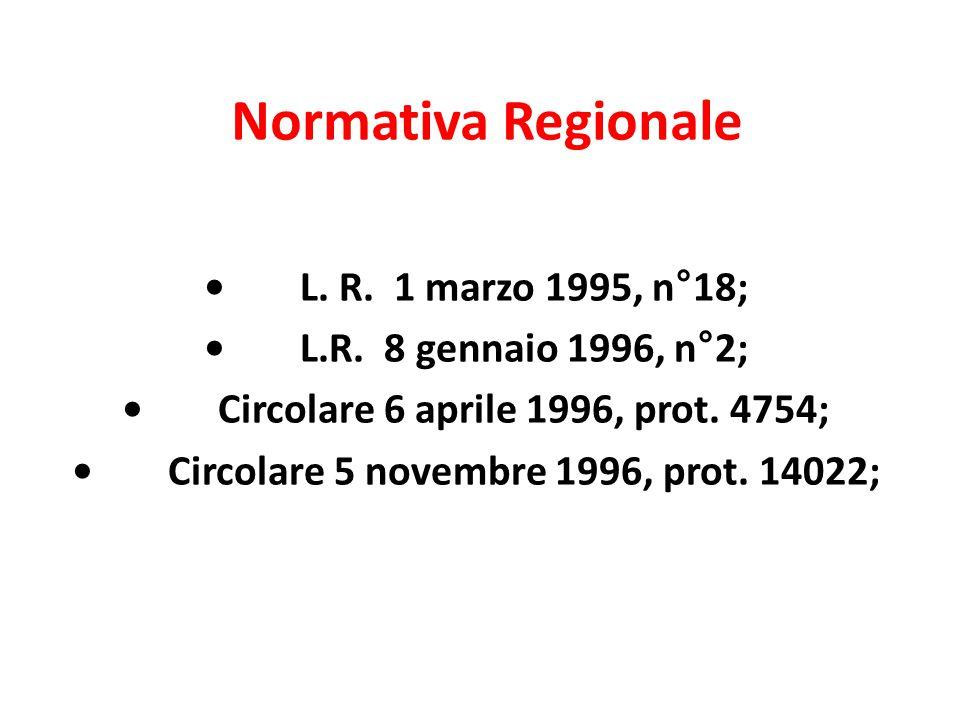 Normativa Regionale • L. R. 1 marzo 1995, n°18;
