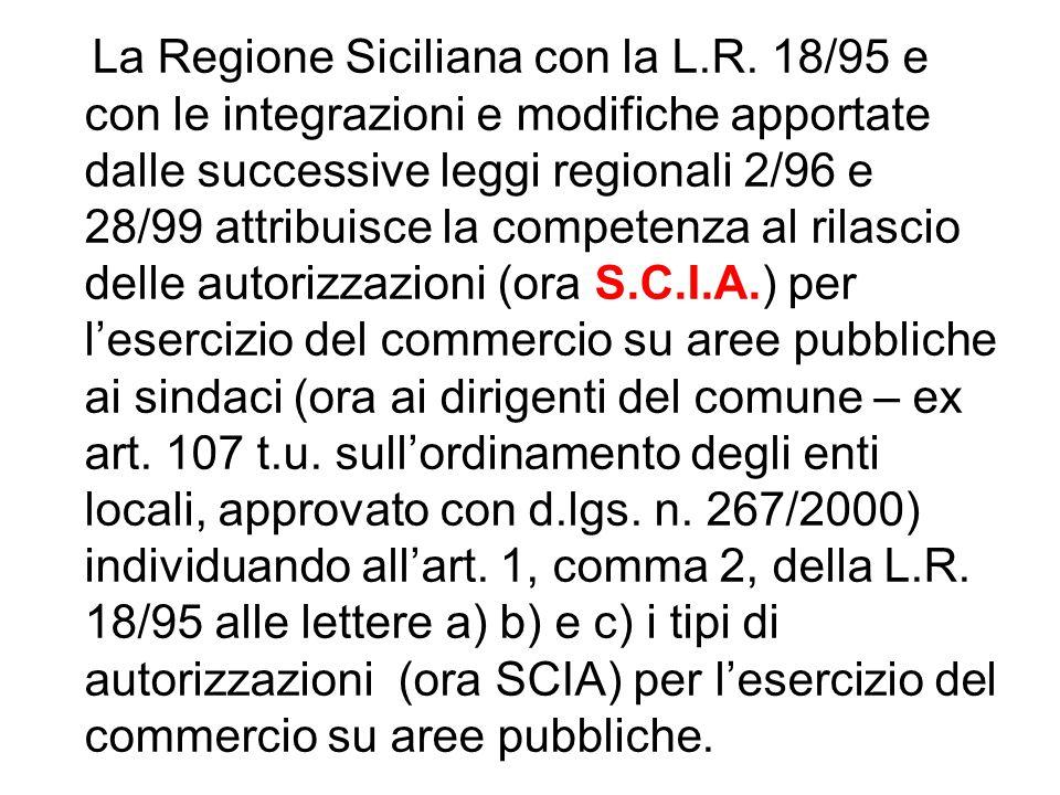 La Regione Siciliana con la L. R