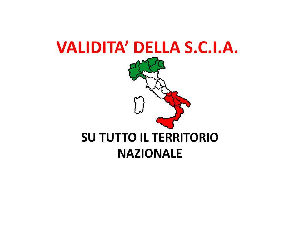 SU TUTTO IL TERRITORIO NAZIONALE