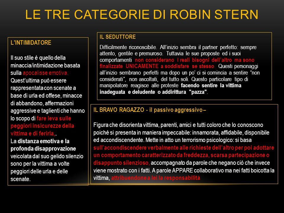 Le TRE CATEGORIE DI ROBIN STERN