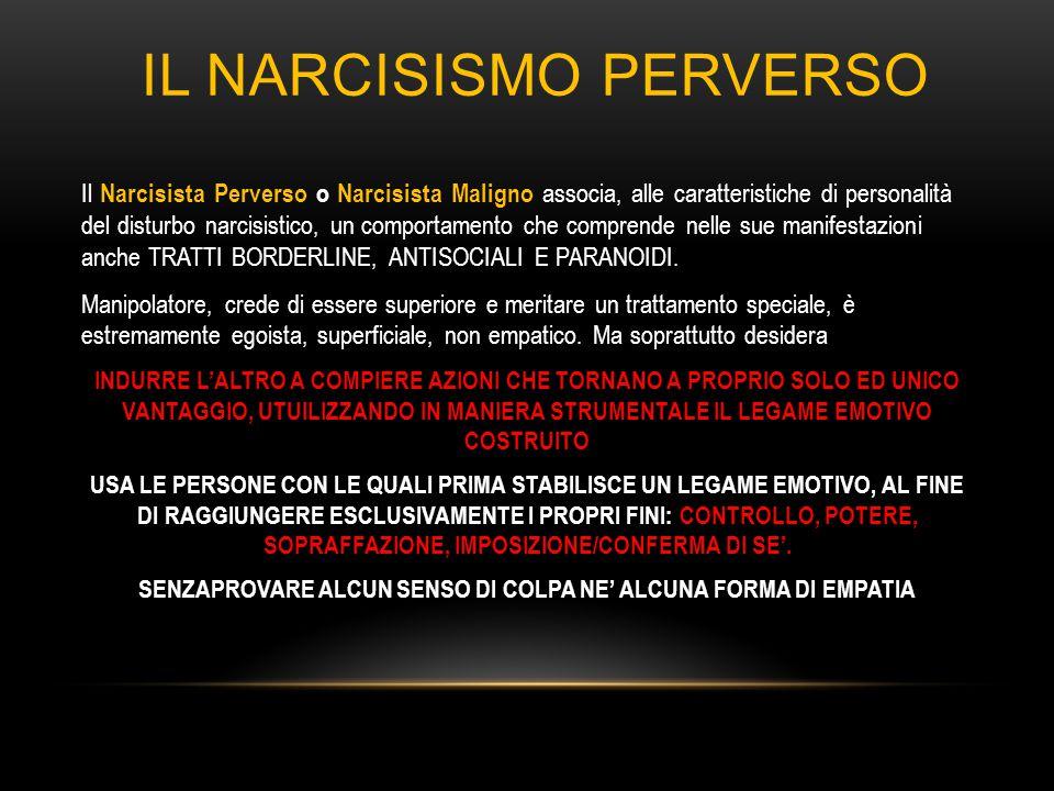 IL NARCISISMO PERVERSO