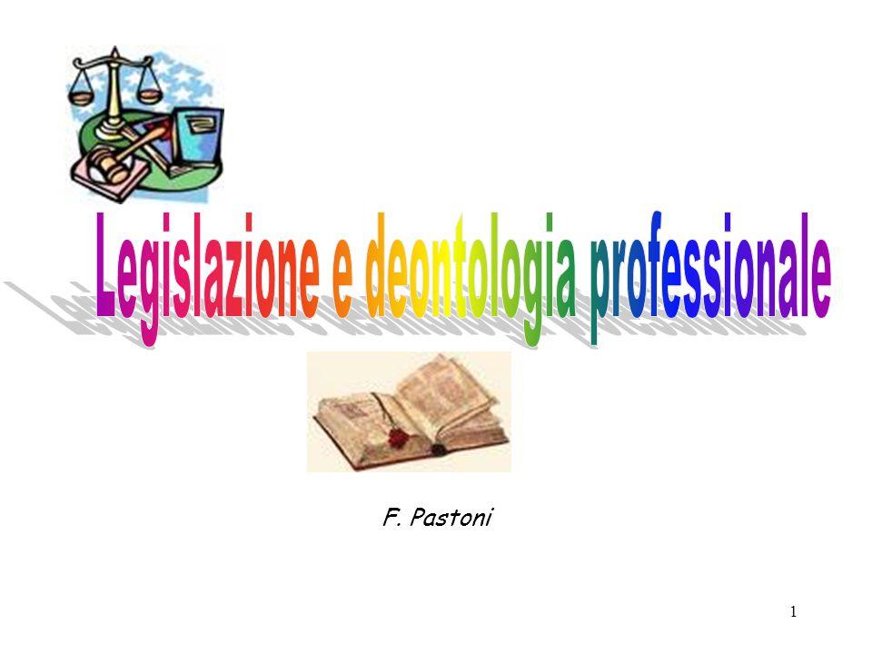 Legislazione e deontologia professionale