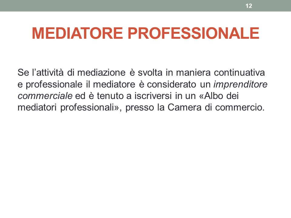 MEDIATORE PROFESSIONALE