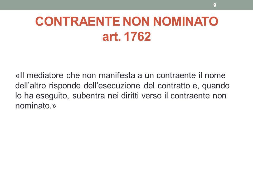 CONTRAENTE NON NOMINATO art. 1762