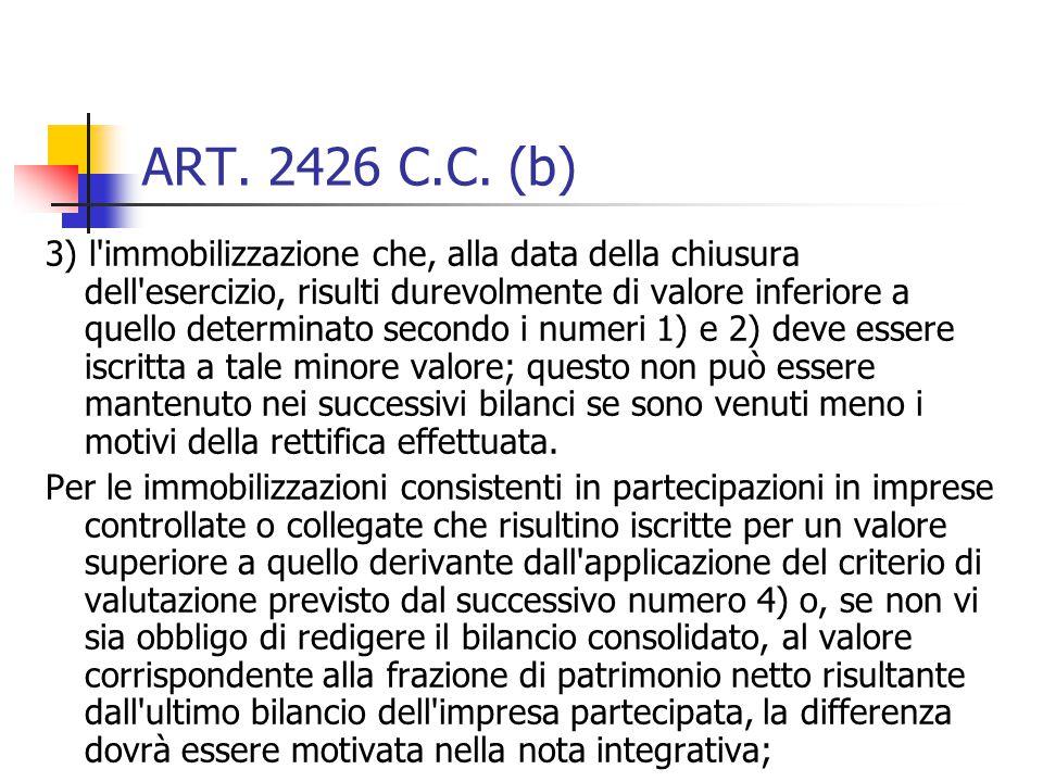 ART. 2426 C.C. (b)
