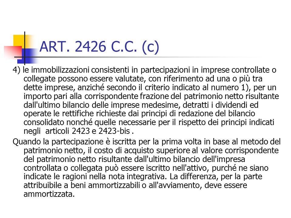 ART. 2426 C.C. (c)