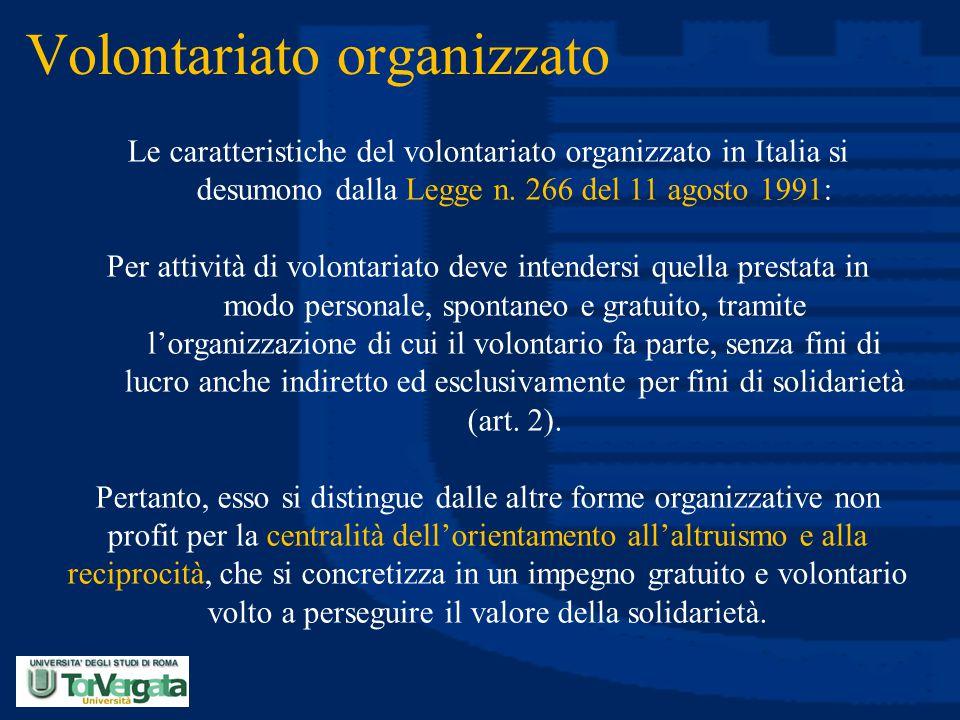 Volontariato organizzato