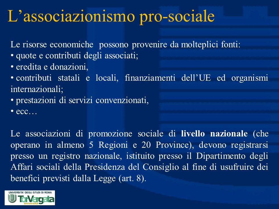 L'associazionismo pro-sociale