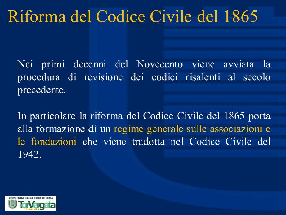 Riforma del Codice Civile del 1865