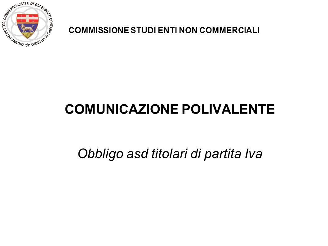 COMMISSIONE STUDI ENTI NON COMMERCIALI