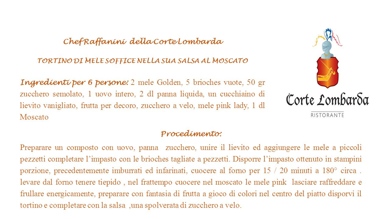 Chef Raffanini della Corte Lombarda