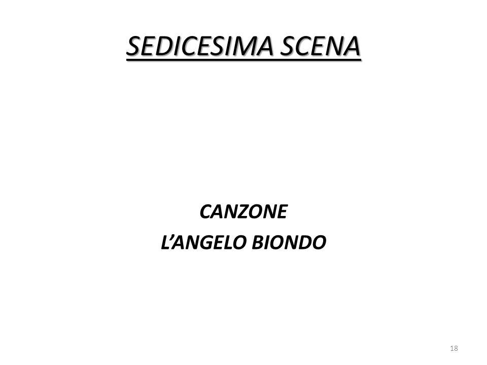 CANZONE L'ANGELO BIONDO