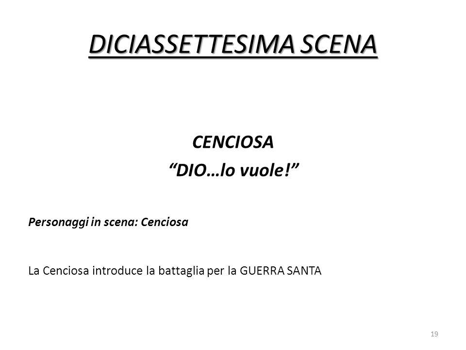 DICIASSETTESIMA SCENA