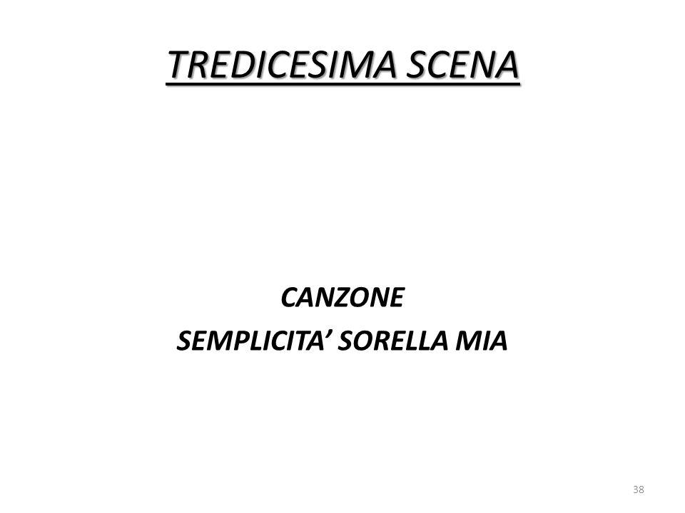 CANZONE SEMPLICITA' SORELLA MIA
