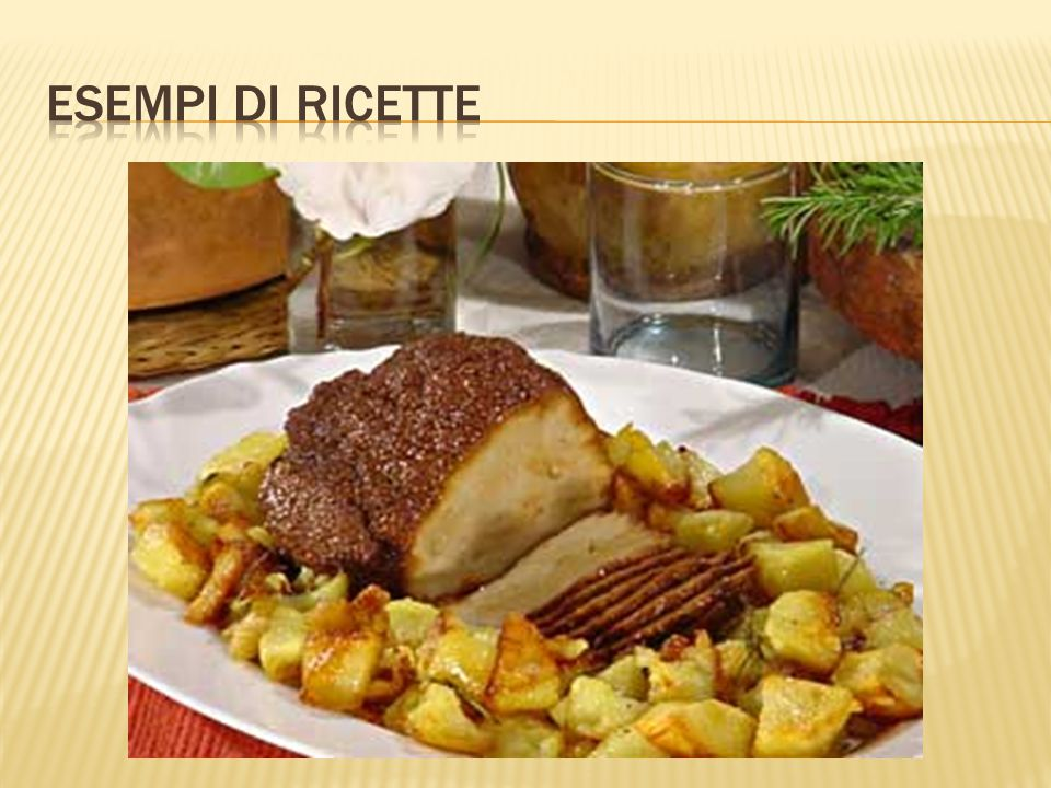 Esempi di ricette