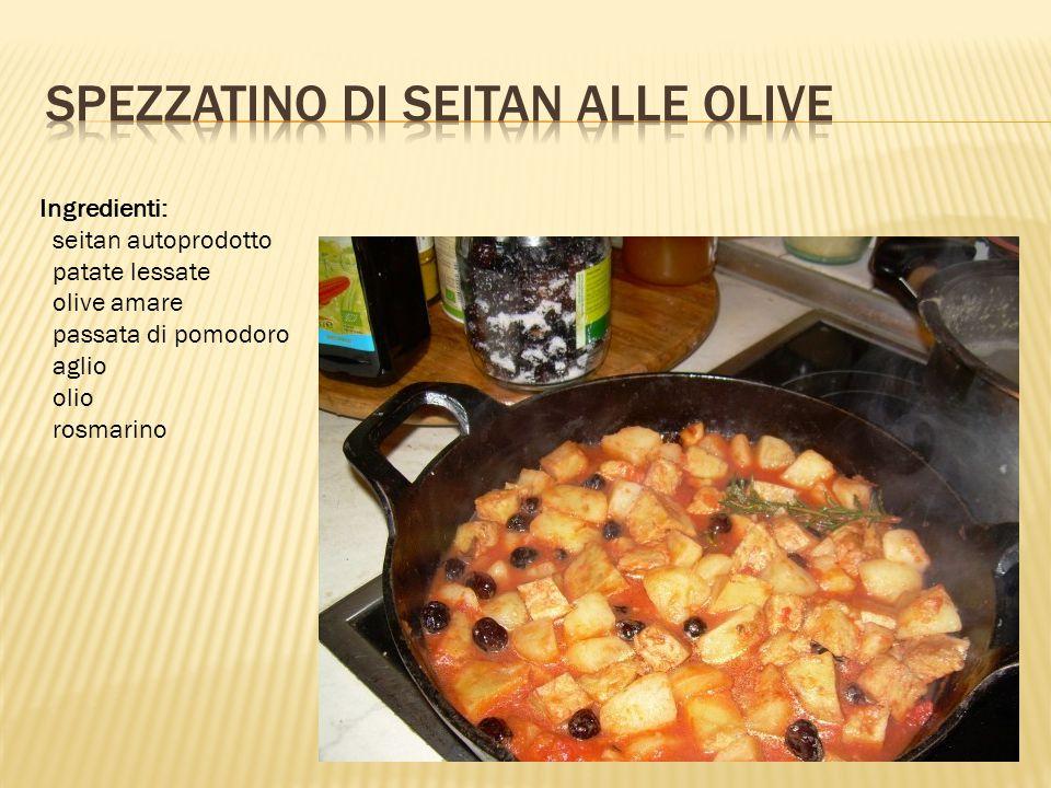 Spezzatino di seitan alle olive