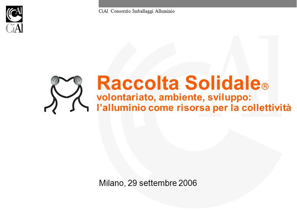 Raccolta Solidale volontariato, ambiente, sviluppo: