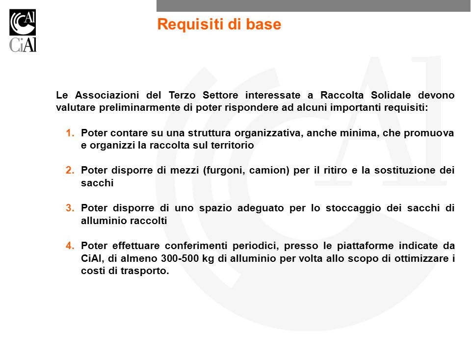 Requisiti di base