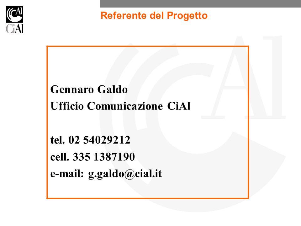 Ufficio Comunicazione CiAl tel. 02 54029212 cell. 335 1387190
