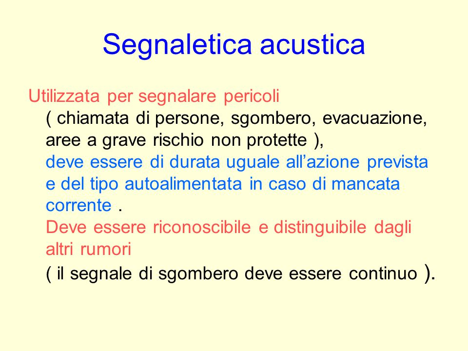 Segnaletica acustica
