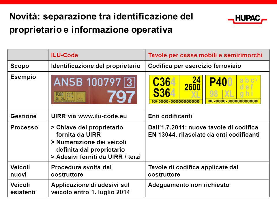 Novità: separazione tra identificazione del proprietario e informazione operativa