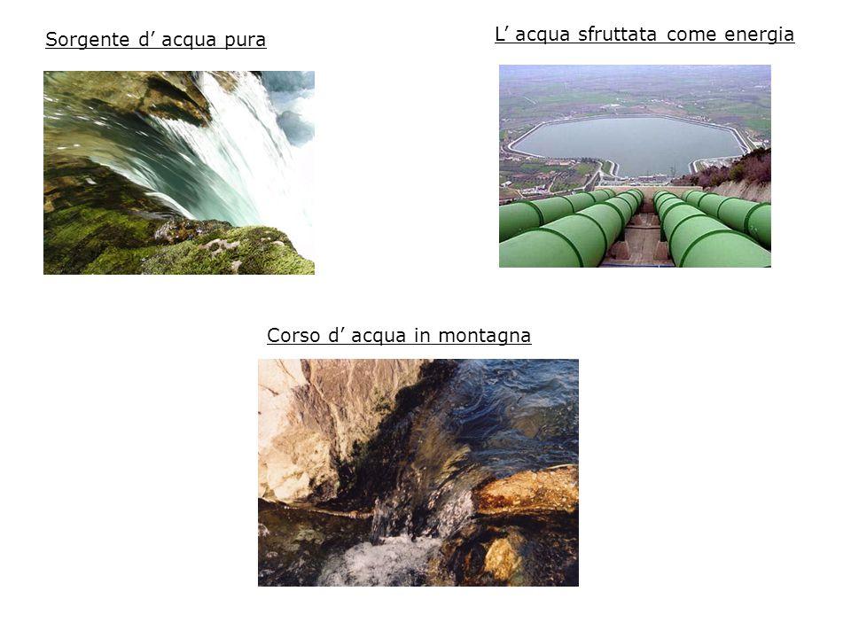 L' acqua sfruttata come energia