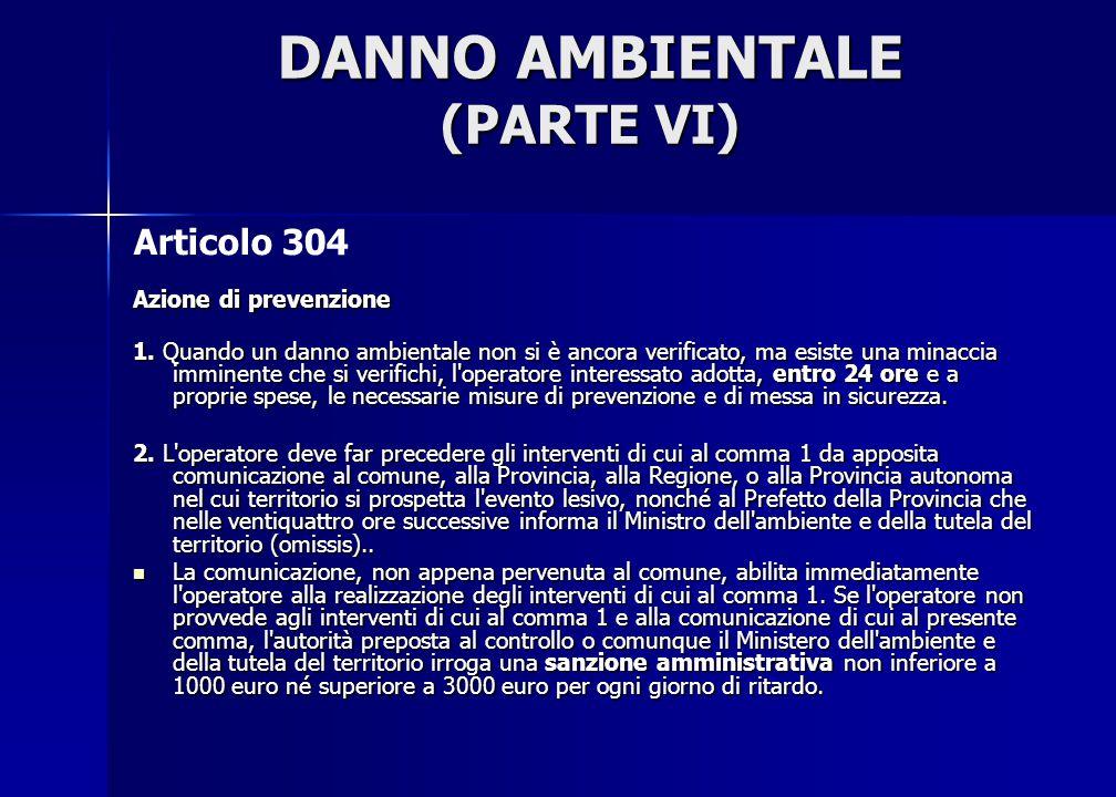 DANNO AMBIENTALE (PARTE VI)