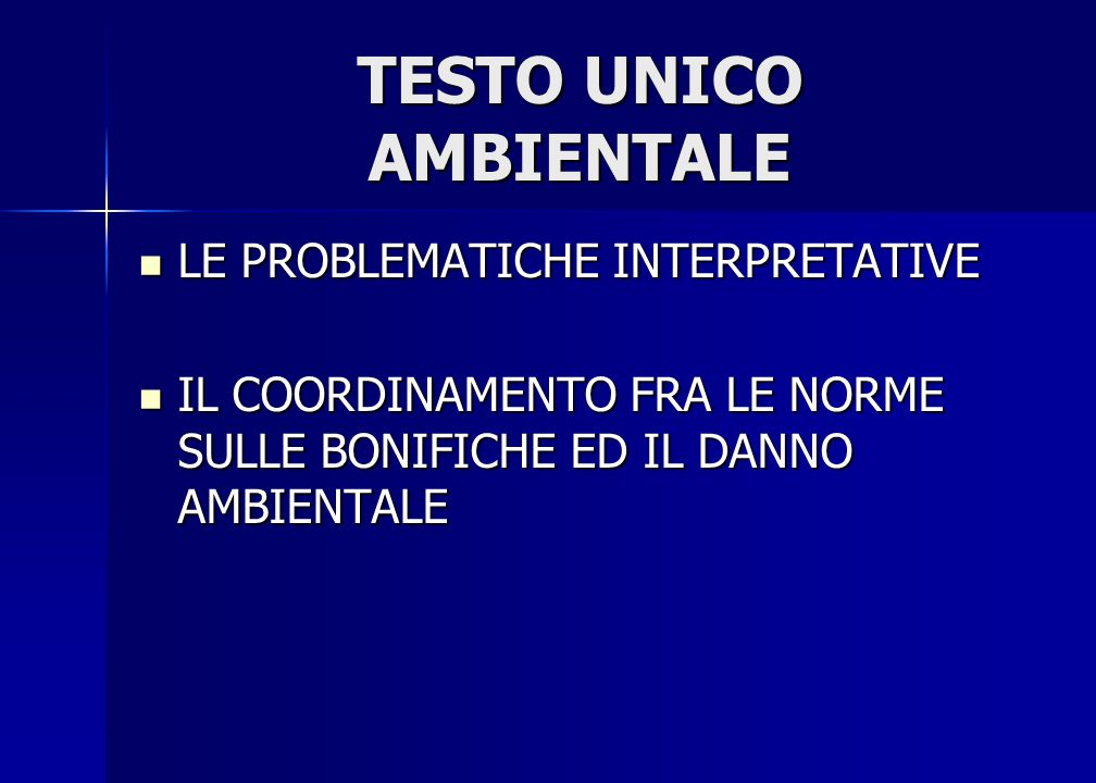 TESTO UNICO AMBIENTALE