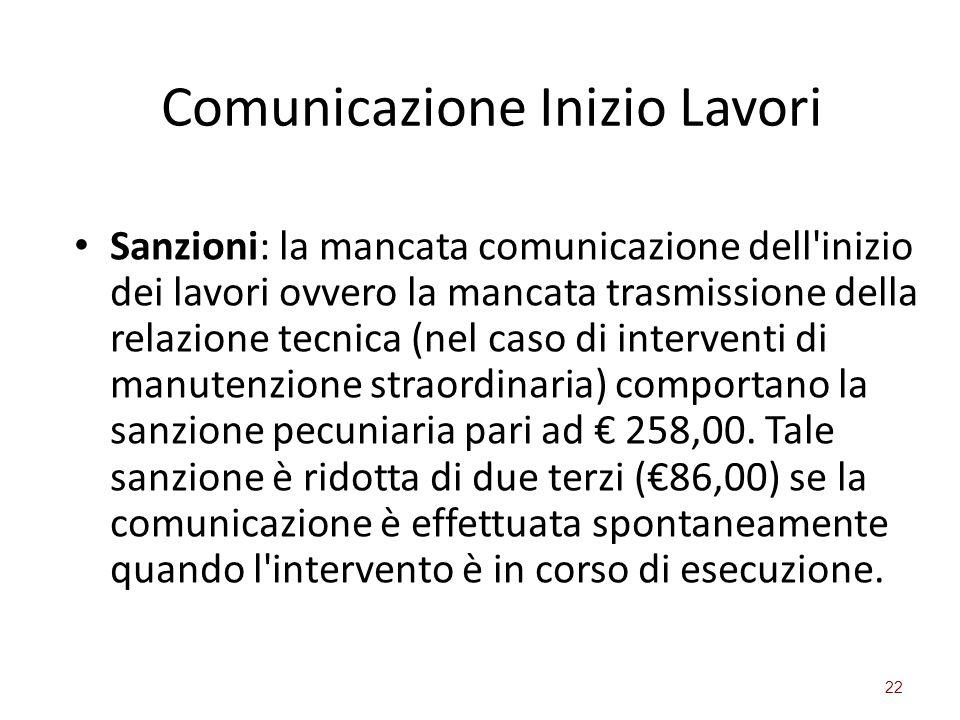 Comunicazione Inizio Lavori