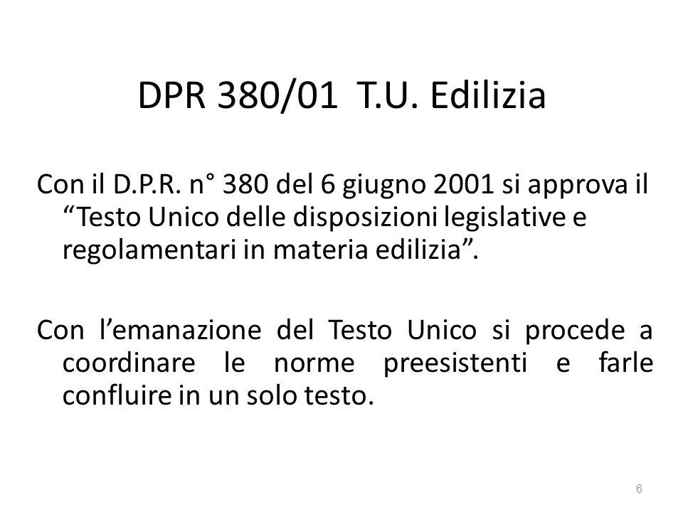 DPR 380/01 T.U. Edilizia