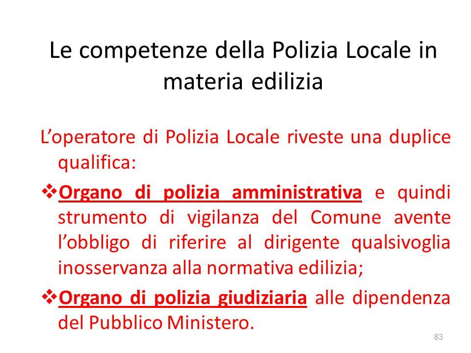 Le competenze della Polizia Locale in materia edilizia