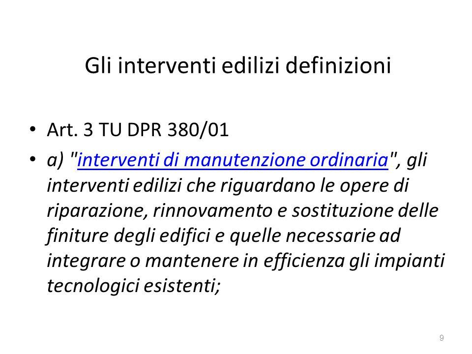 Gli interventi edilizi definizioni