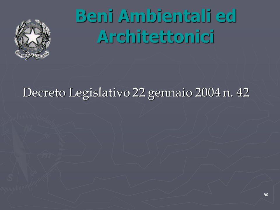 Beni Ambientali ed Architettonici