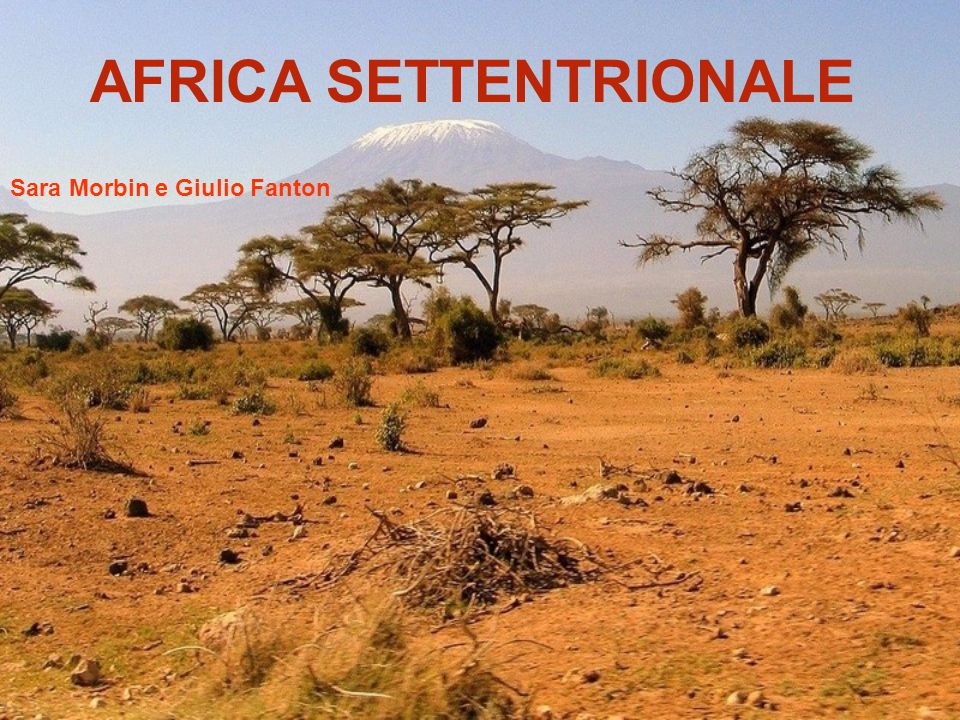 AFRICA SETTENTRIONALE