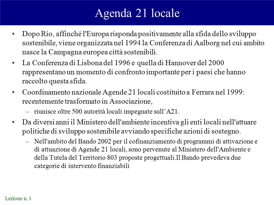 Agenda 21 locale