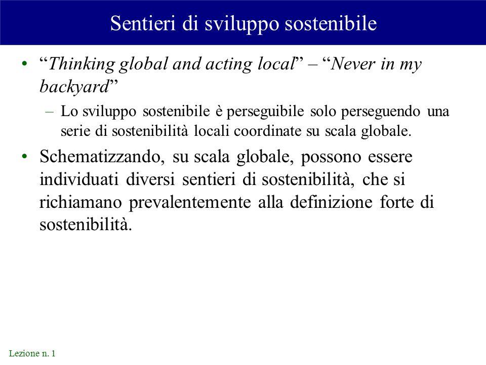 Sentieri di sviluppo sostenibile