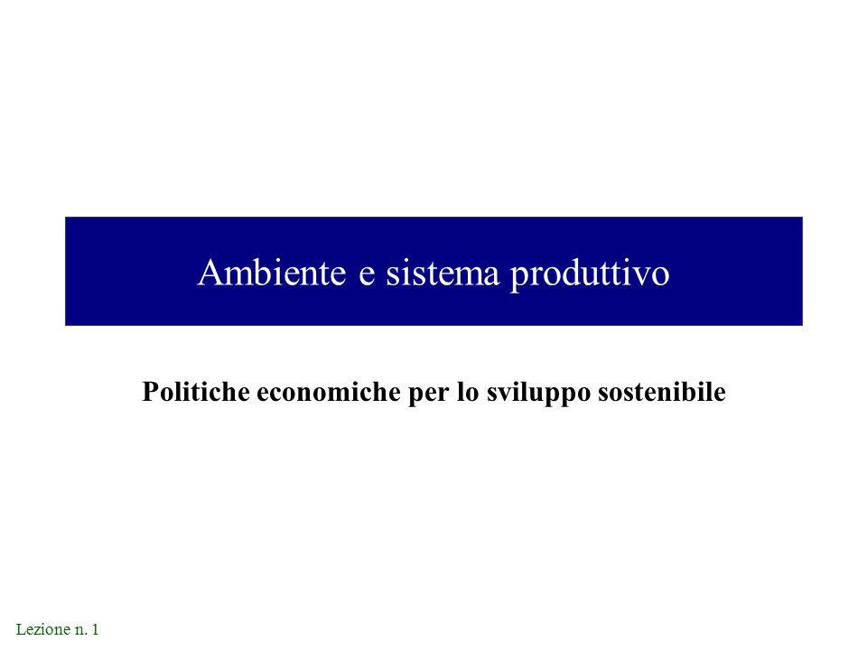 Ambiente e sistema produttivo