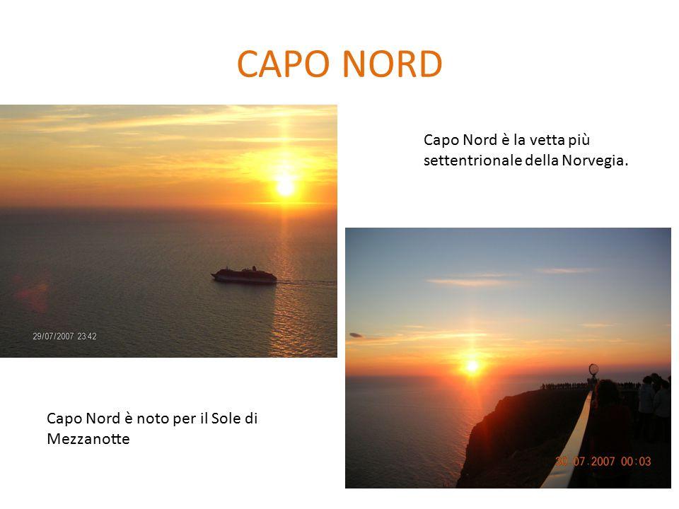 CAPO NORD Capo Nord è la vetta più settentrionale della Norvegia.