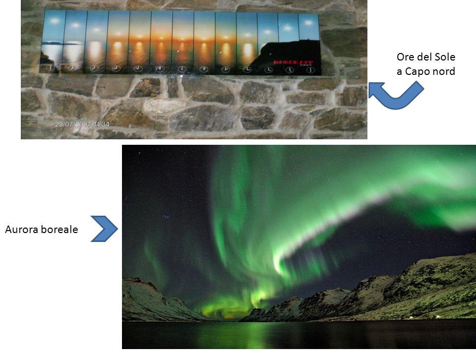 Ore del Sole a Capo nord Aurora boreale