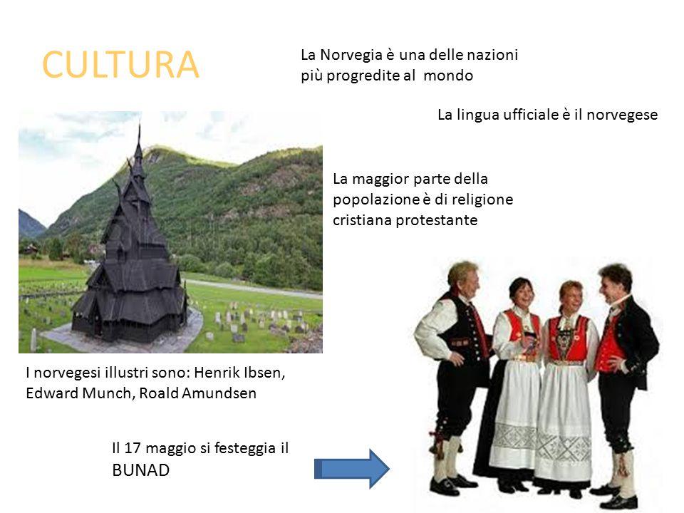 CULTURA La Norvegia è una delle nazioni più progredite al mondo