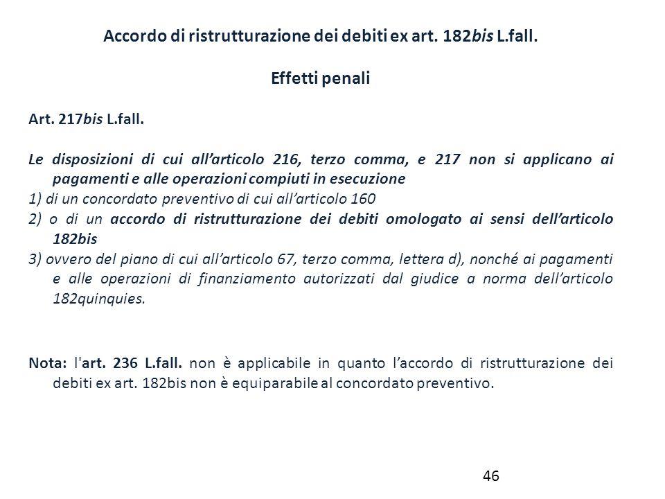 Accordo di ristrutturazione dei debiti ex art. 182bis L.fall.