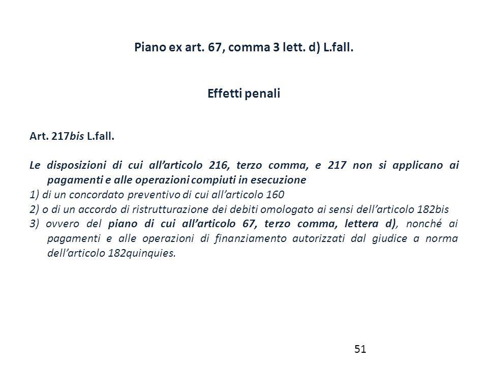 Piano ex art. 67, comma 3 lett. d) L.fall.