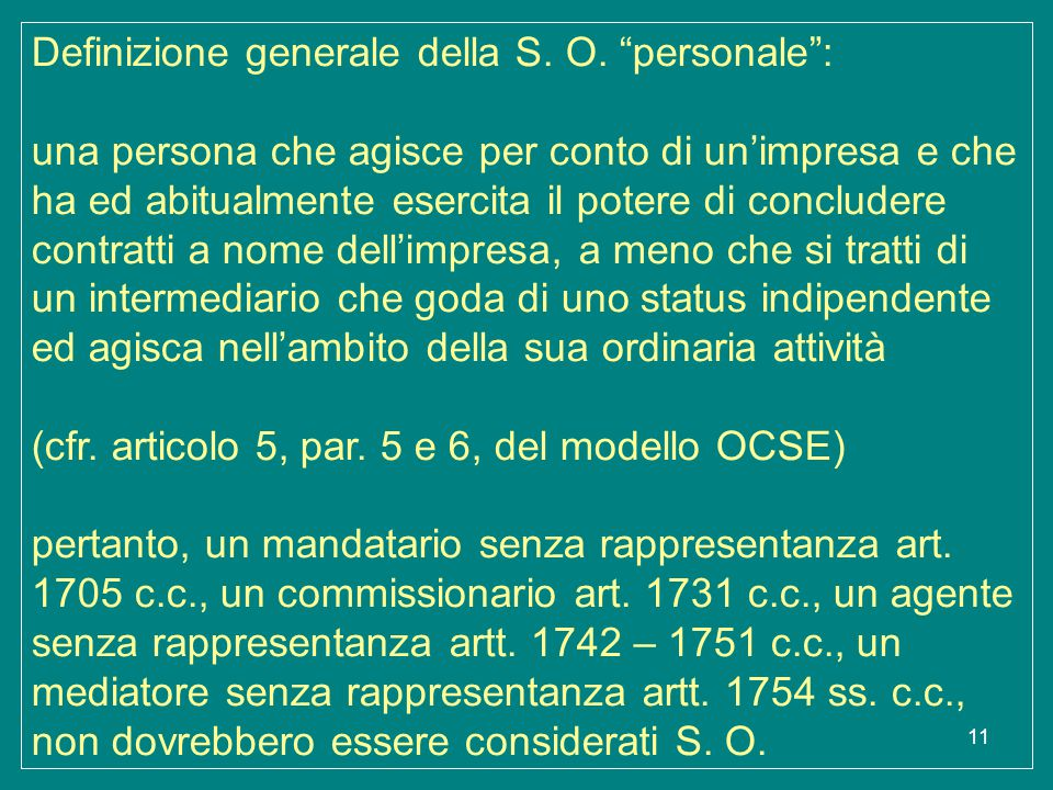 Definizione generale della S. O