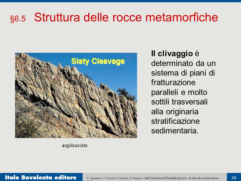 §6.5 Struttura delle rocce metamorfiche