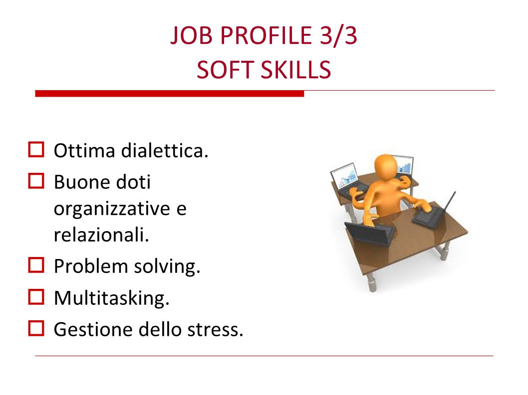 JOB PROFILE 3/3 SOFT SKILLS