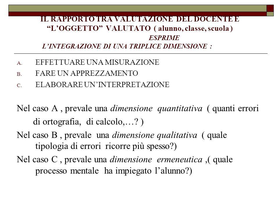 Nel caso A , prevale una dimensione quantitativa ( quanti errori